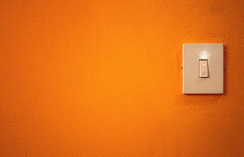 Orange Light Wall