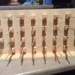 Added dowels into the cubed holes
