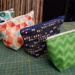 4 wedge zipper bags
