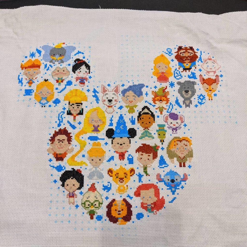 Disney heroes cross stitch