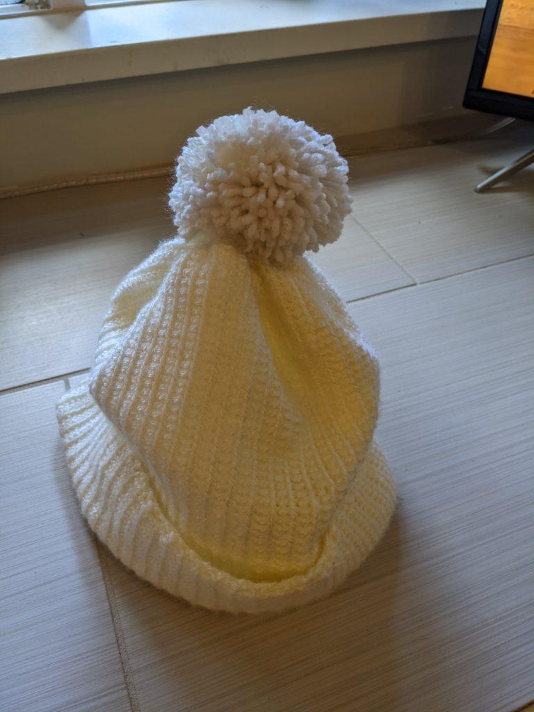 Crocheted rosewood beanie hat