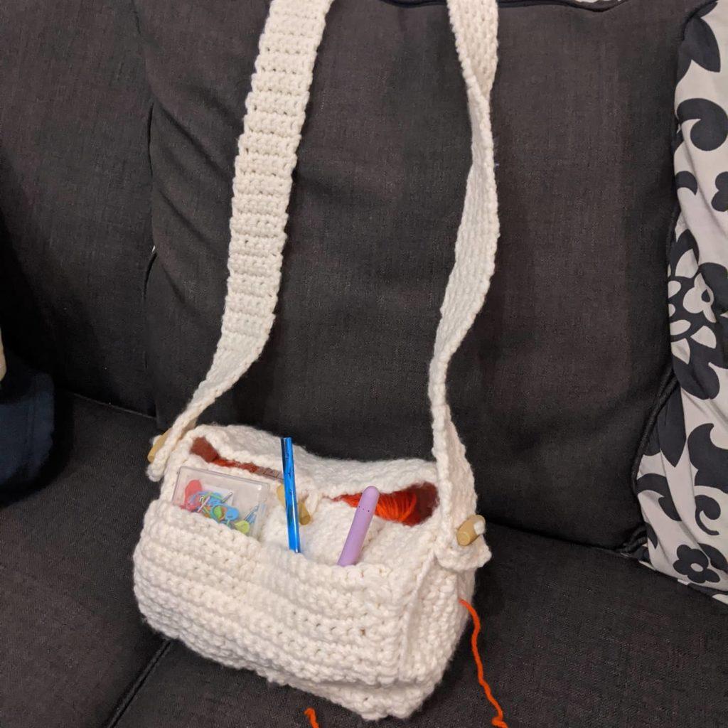 Crocheted yarn buddy